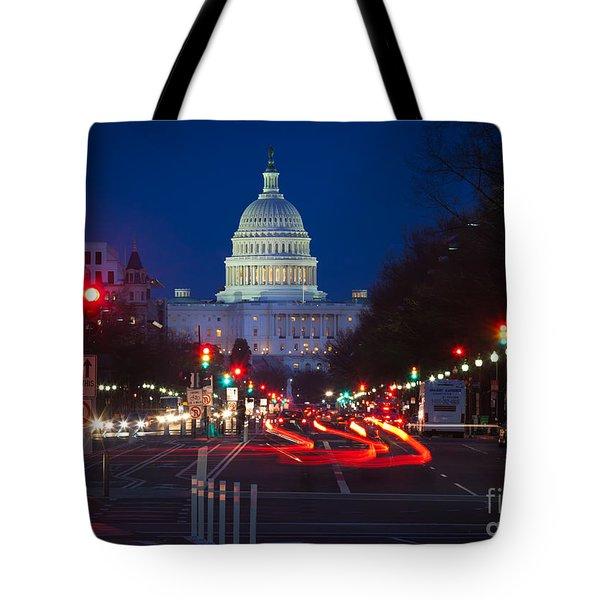 Pennsylvania Avenue Tote Bag by Inge Johnsson