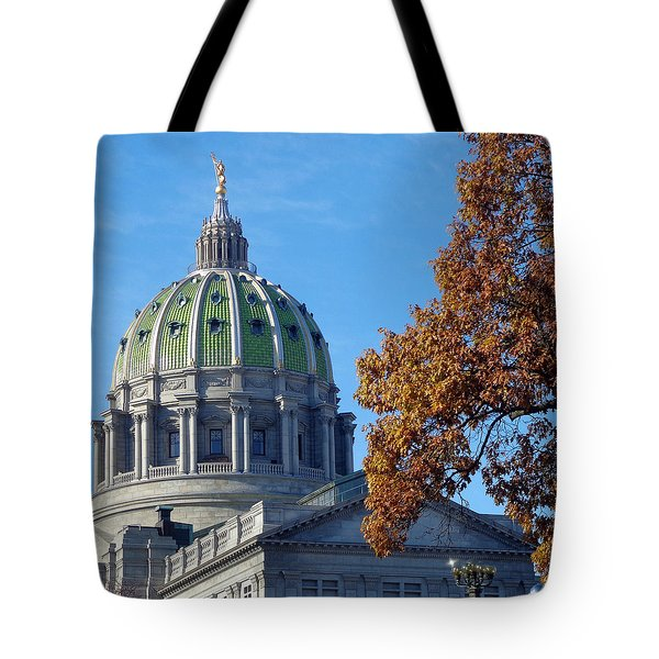Pennsylvania Capitol Building Tote Bag by Joseph Skompski