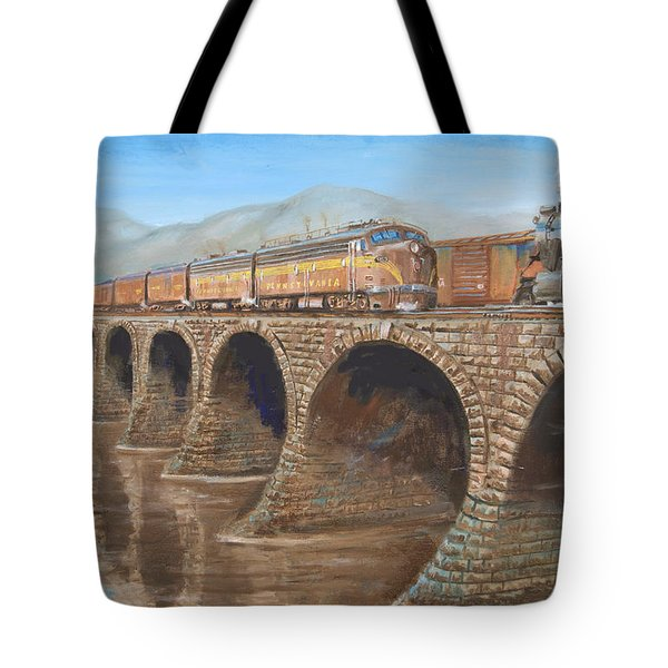 Pennsylvania Railroad On The Rockville Bridge Tote Bag