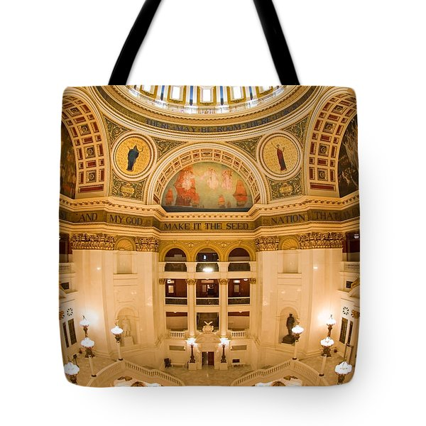 Pennsylvania State Capitol Dome And Rotunda Tote Bag by Frank Tozier