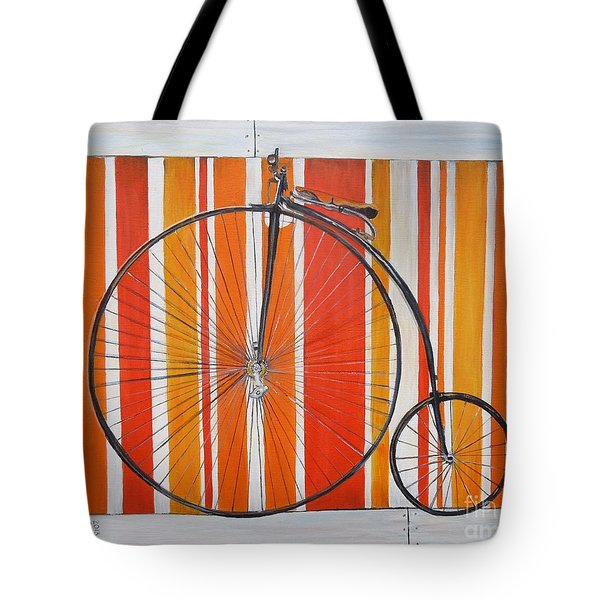 Penny-farthing Tote Bag by Marilyn  McNish