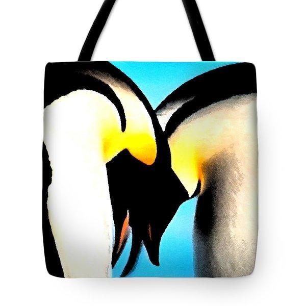 Penquin Love Dance Tote Bag