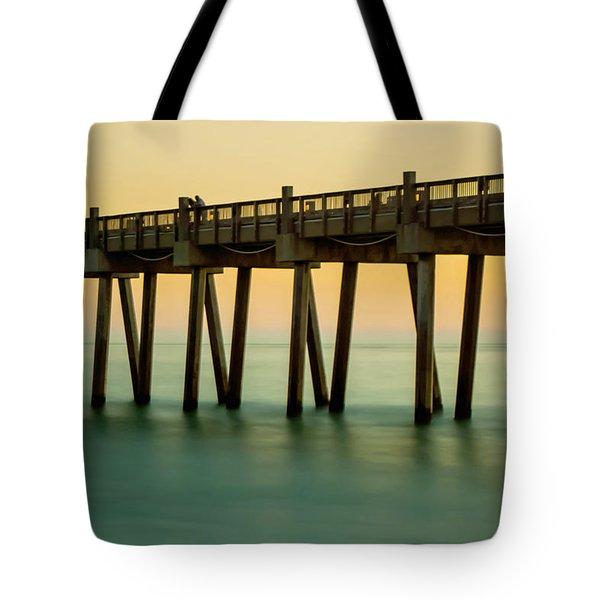 Pensacola Beach Fishing Pier Tote Bag