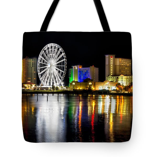 Tote Bag featuring the photograph Pensacola Beach Skyline by Tim Stanley