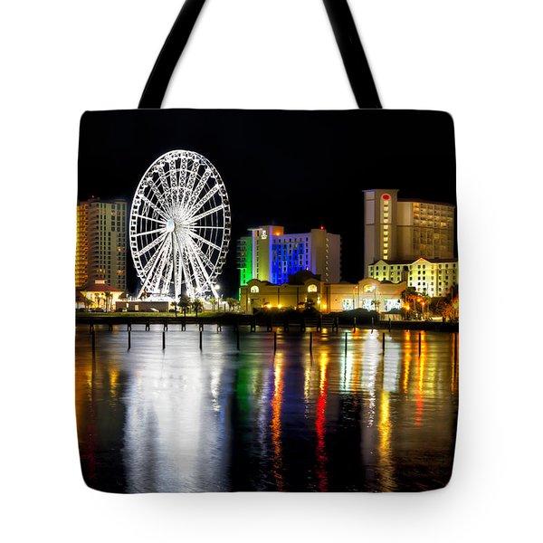 Pensacola Beach Skyline Tote Bag by Tim Stanley