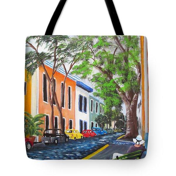 Pensando En El Viejo San Juan Tote Bag