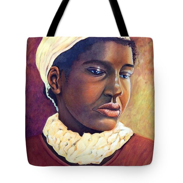 Pensive Contemplation Tote Bag by Caroline Street