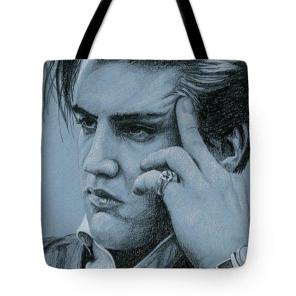 Pensive Elvis Tote Bag by Rob De Vries