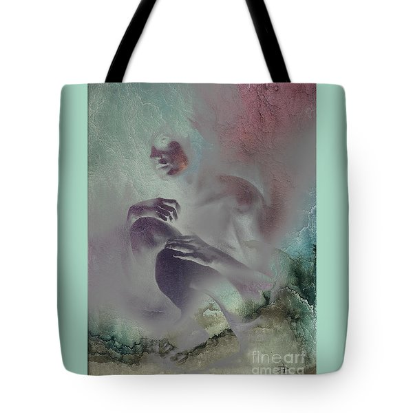 Tote Bag featuring the drawing Pensive With Texture 2 by Paul Davenport