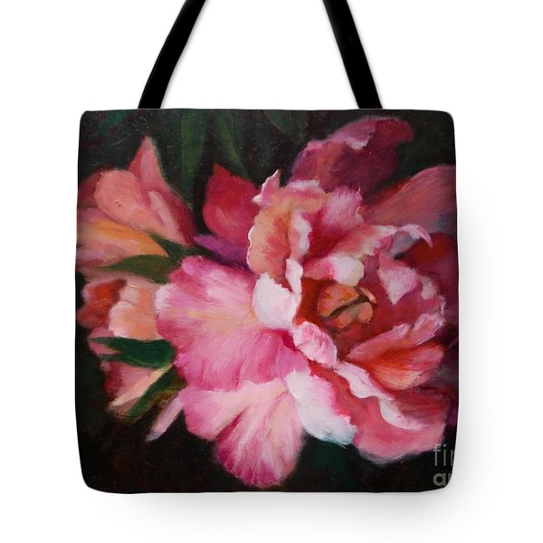 Peonies No 8 The Painting Tote Bag by Marlene Book
