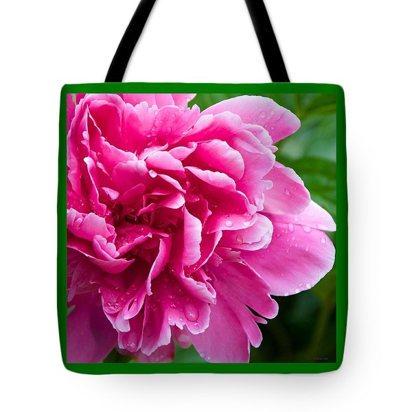 Peony After The Rain Tote Bag