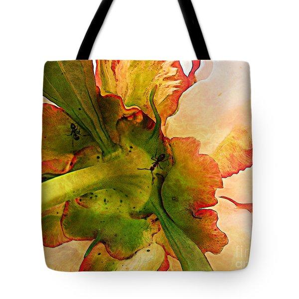 Peony Flirt Tote Bag by Jolanta Anna Karolska