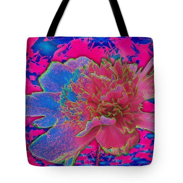 Peony Rainbow Tote Bag by Margaret Newcomb