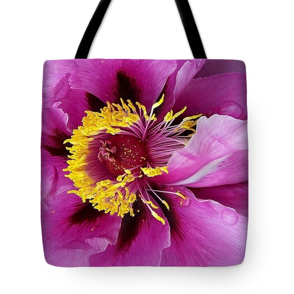 Peony Revealed Tote Bag