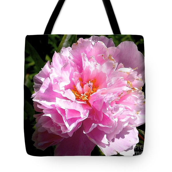 Tote Bag featuring the photograph Peony by Sher Nasser