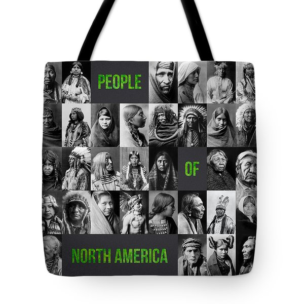 People Of North America Tote Bag by Aged Pixel