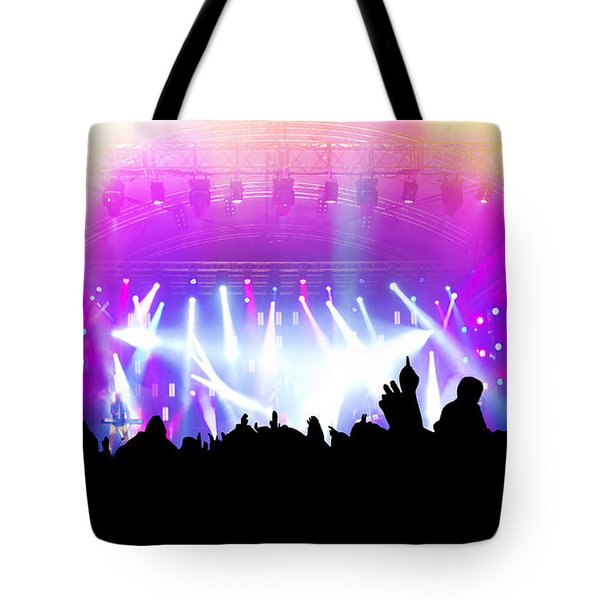People On Music Concert Disco Party Tote Bag by Michal Bednarek