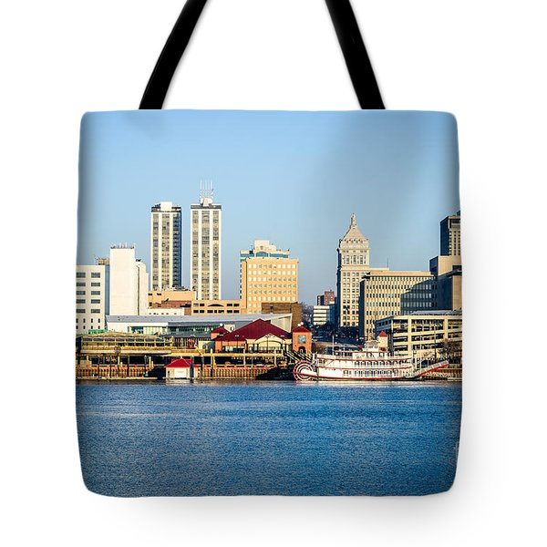 Peoria Skyline And Downtown City Buildings Tote Bag by Paul Velgos