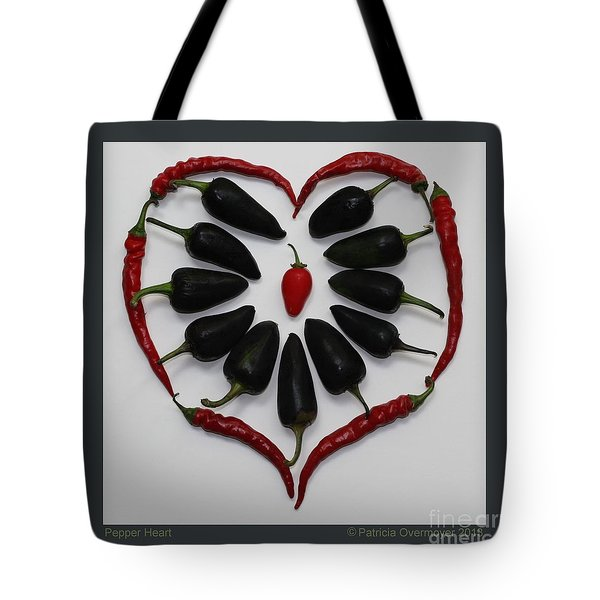 Pepper Heart Tote Bag
