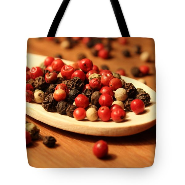 Peppercorns Tote Bag by Joseph Skompski