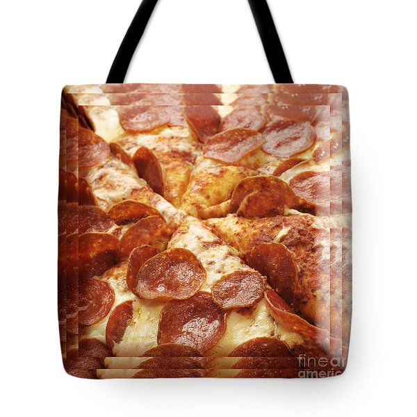 Pepperoni Pizza 25 Pyramid Tote Bag