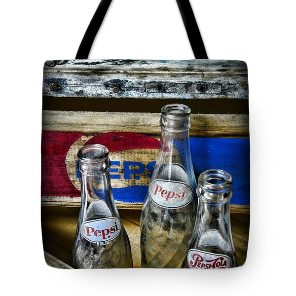 Pepsi Bottles And Crates Tote Bag