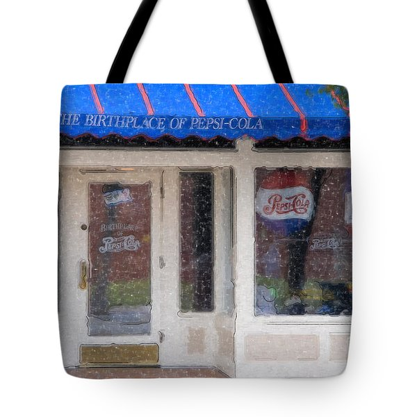 Pepsi Cola Birthplace Watercolor Tote Bag
