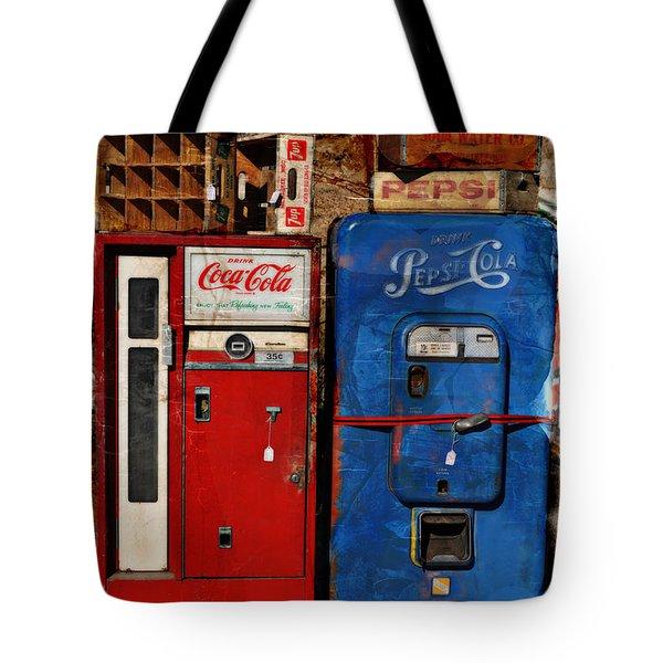 Pepsi Vs Coke Tote Bag