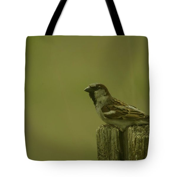 Perched On A Fence Post Tote Bag