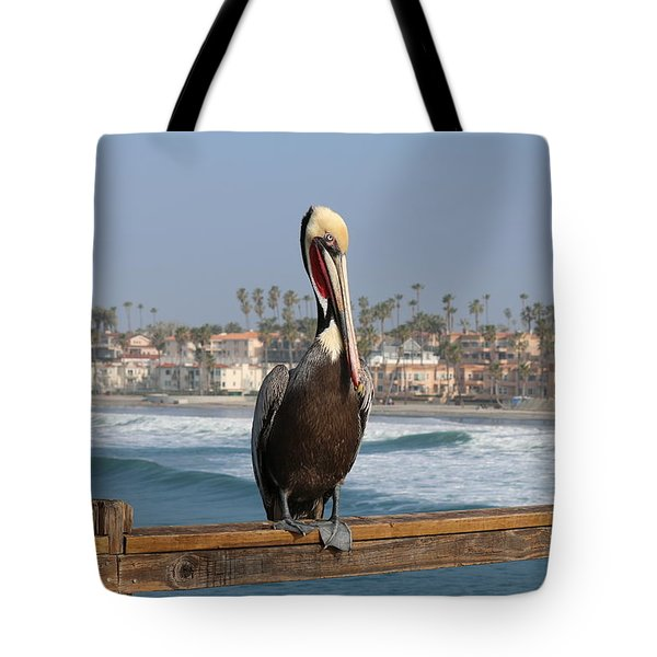 Perched On The Pier Tote Bag