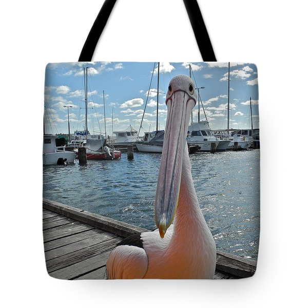 Percy The Pelican Tote Bag by Kirsten Giving