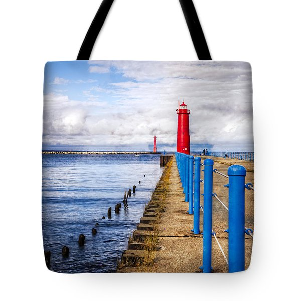 Pere Marquette Tote Bag by Debra and Dave Vanderlaan