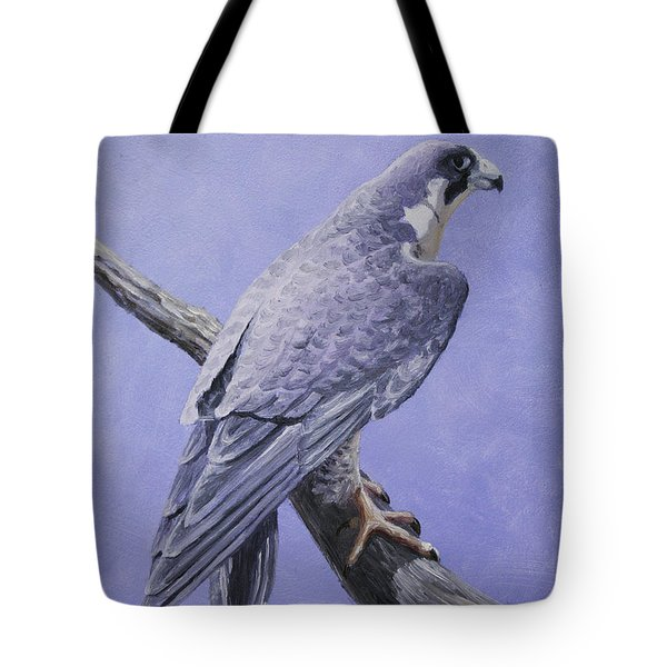 Peregrine Falcon Tote Bag by Crista Forest