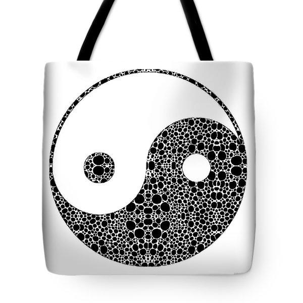 Perfect Balance 1 - Yin And Yang Stone Rock'd Art By Sharon Cummings Tote Bag by Sharon Cummings