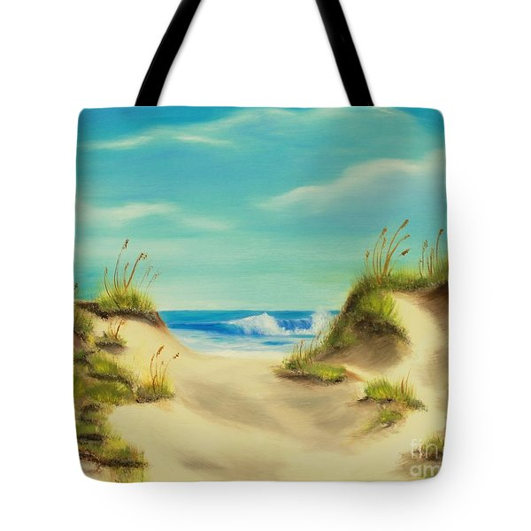 Perfect Beach Day Tote Bag by Bev Conover