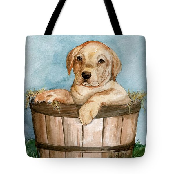 Tote Bag featuring the painting Perfect Fit by Nancy Patterson