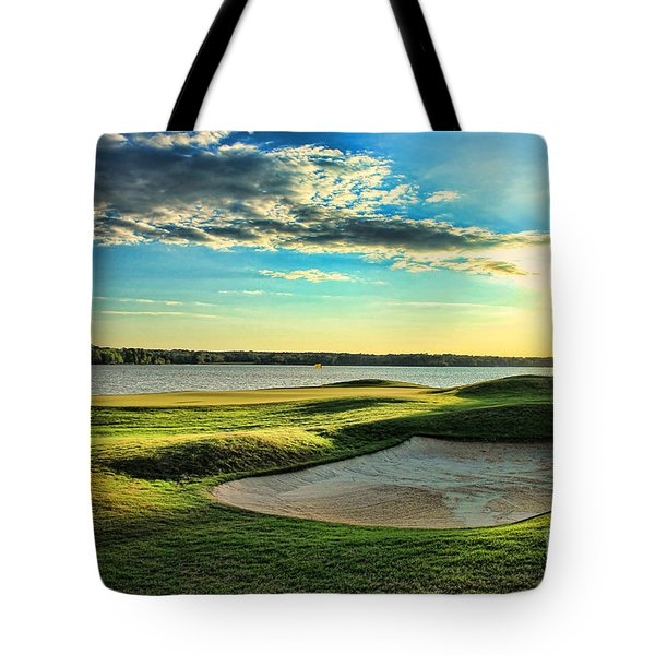 Perfect Golf Sunset Tote Bag