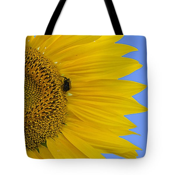 Perfect Half With Blue Sky Tote Bag