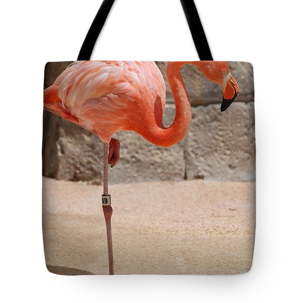 Perfect Pink Flamingo Tote Bag by DejaVu Designs