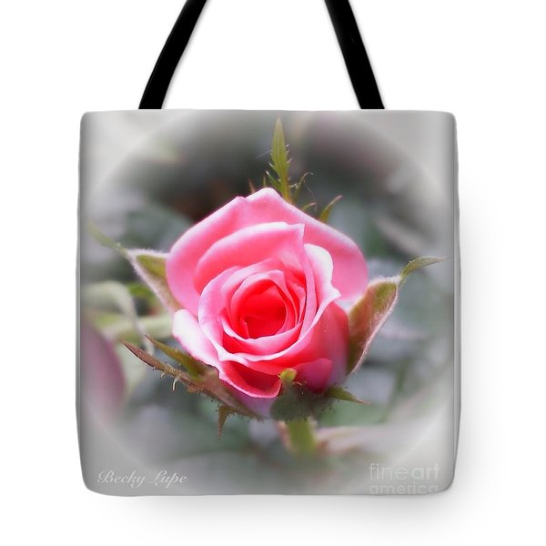 Perfect Rosebud In The Light Tote Bag