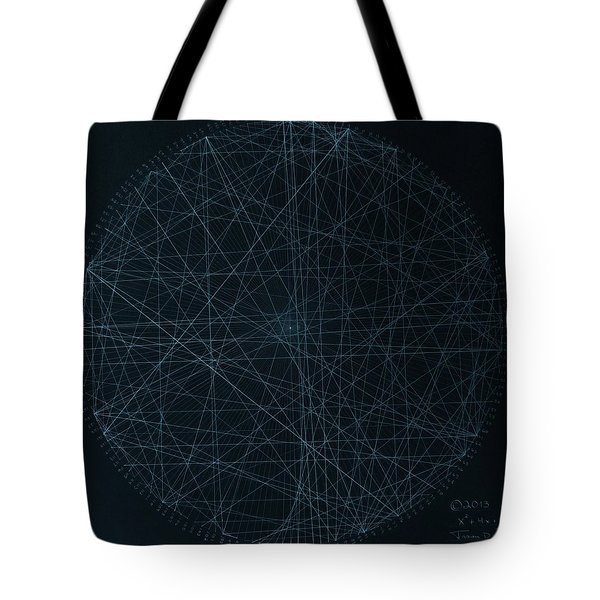 Tote Bag featuring the drawing Perfect Square by Jason Padgett