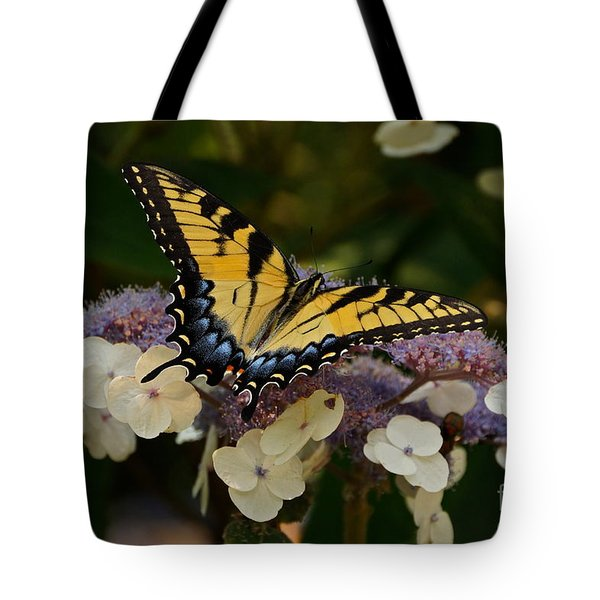 Perfect Tiger Swallowtail Butterfly Tote Bag by Byron Varvarigos