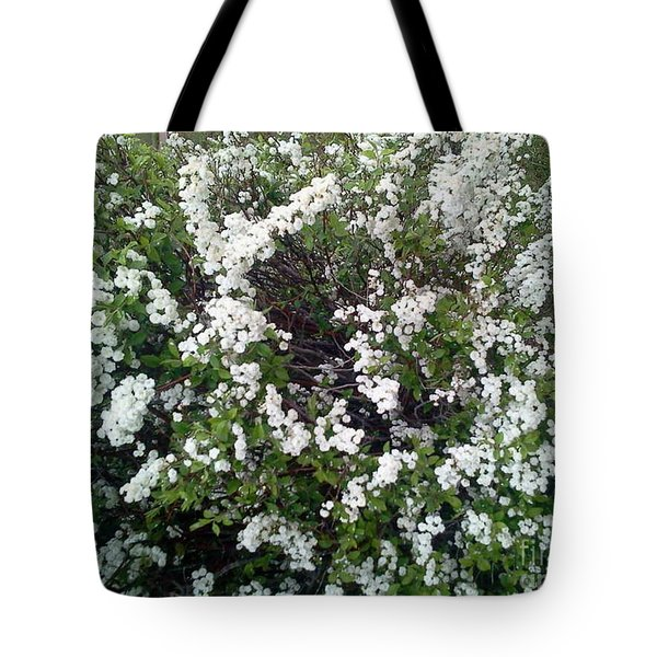 Perfect White Spring Blossoms Tote Bag by PainterArtist FIN