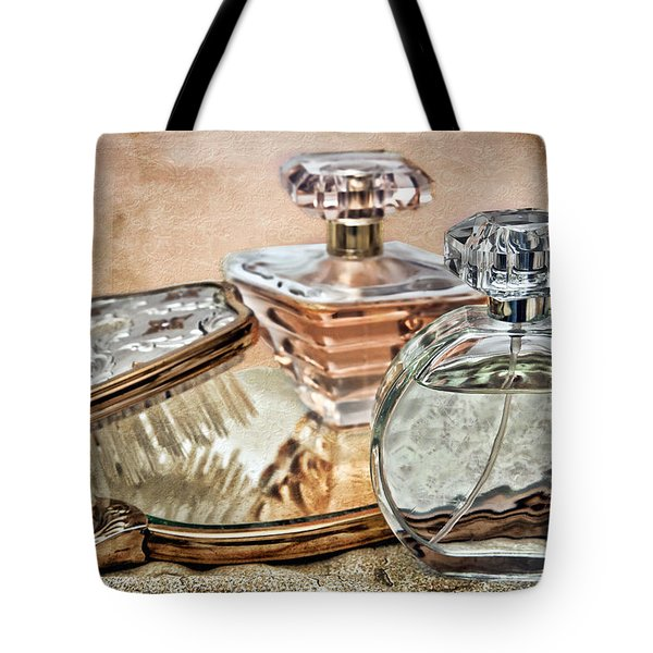 Perfume Bottle Ix Tote Bag by Tom Mc Nemar