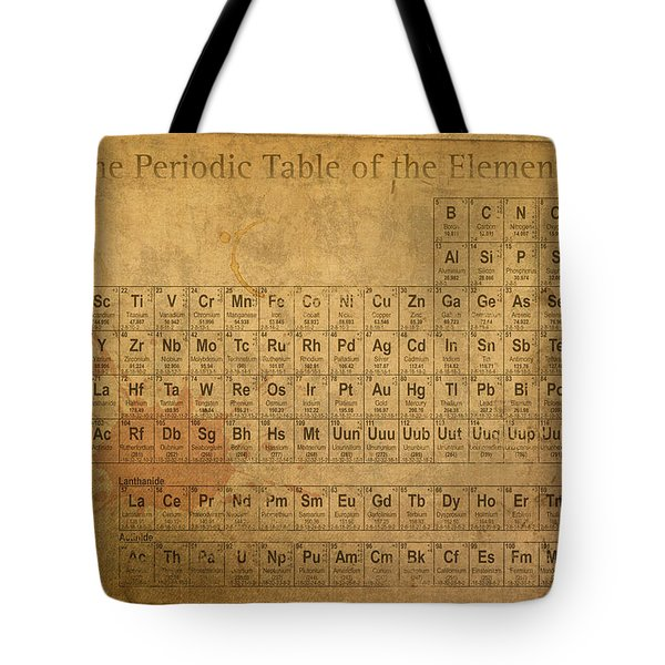 Periodic Table Of The Elements Tote Bag
