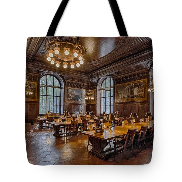 Periodical Room At The New York Public Library Tote Bag by Susan Candelario