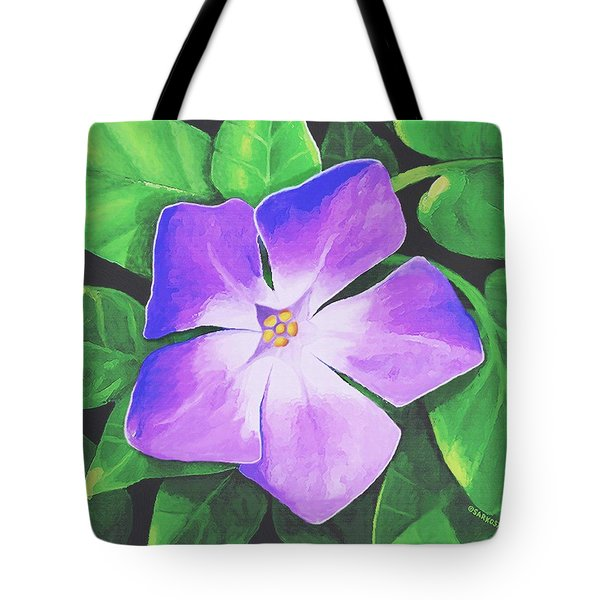 Tote Bag featuring the painting Periwinkle by Sophia Schmierer