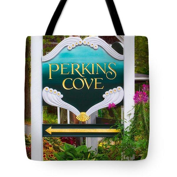 Perkins Cove Sign Tote Bag