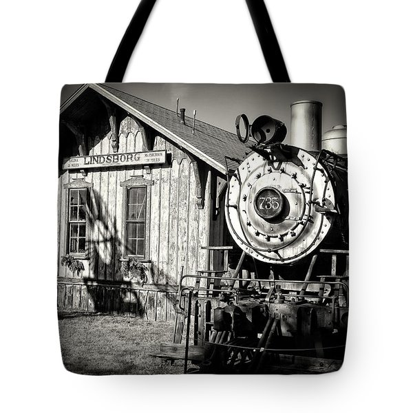 Tote Bag featuring the photograph Permanent Stop by Ben Shields