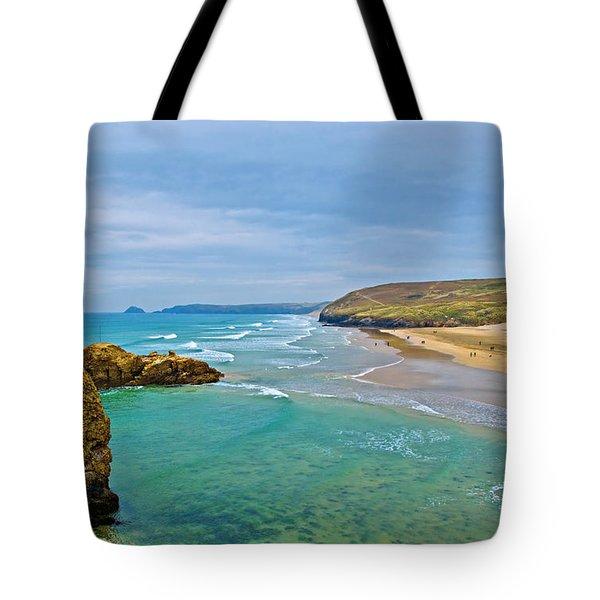 Perranporth Beach Tote Bag